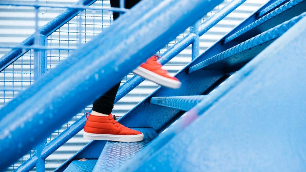 βήματα σε σκάλες